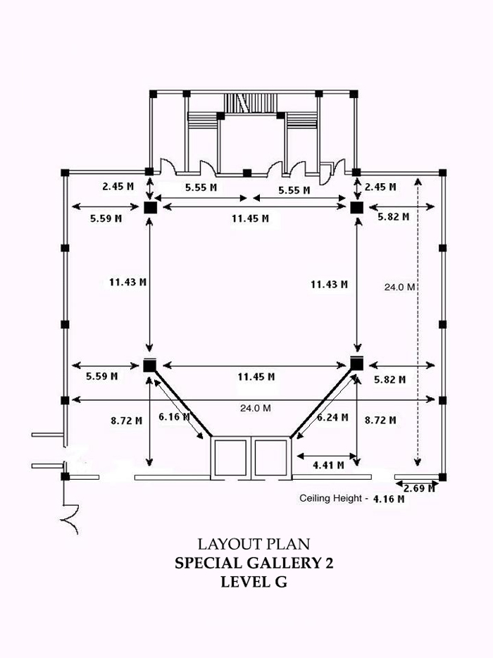 Endoscopy Room Layout Dimension: Exhibition Space